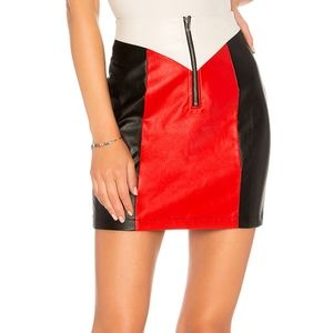 By the way Krista Moto Zip Skirt Faux Leather XXS